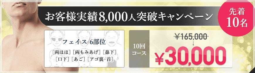 お客様実績8000人突破キャンペーン